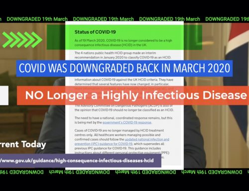 Just A Reminder – COVID WAS DOWNGRADED Back in March 2020 – It's No Longer A Highly Contagious Infectious Disease